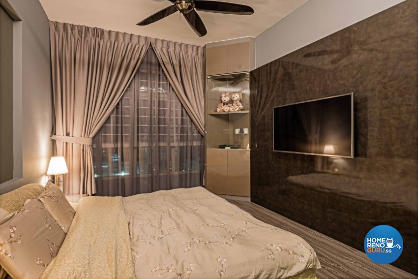 Contemporary, Modern, Tropical Design - Bedroom - HDB 3 Room - Design by Luxurious Design Pte Ltd
