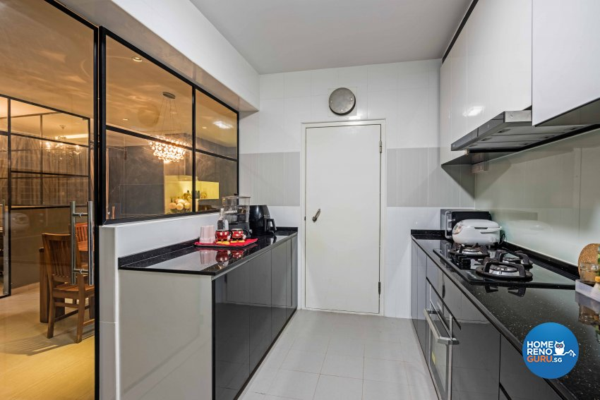 Contemporary, Modern, Tropical Design - Kitchen - HDB 3 Room - Design by Luxurious Design Pte Ltd