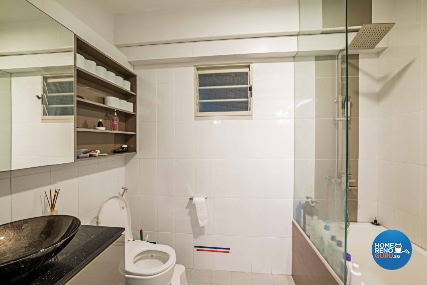 Contemporary, Modern, Tropical Design - Bathroom - HDB 3 Room - Design by Luxurious Design Pte Ltd