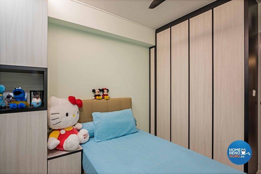 Contemporary, Modern Design - Bedroom - HDB 4 Room - Design by Luxurious Design Pte Ltd