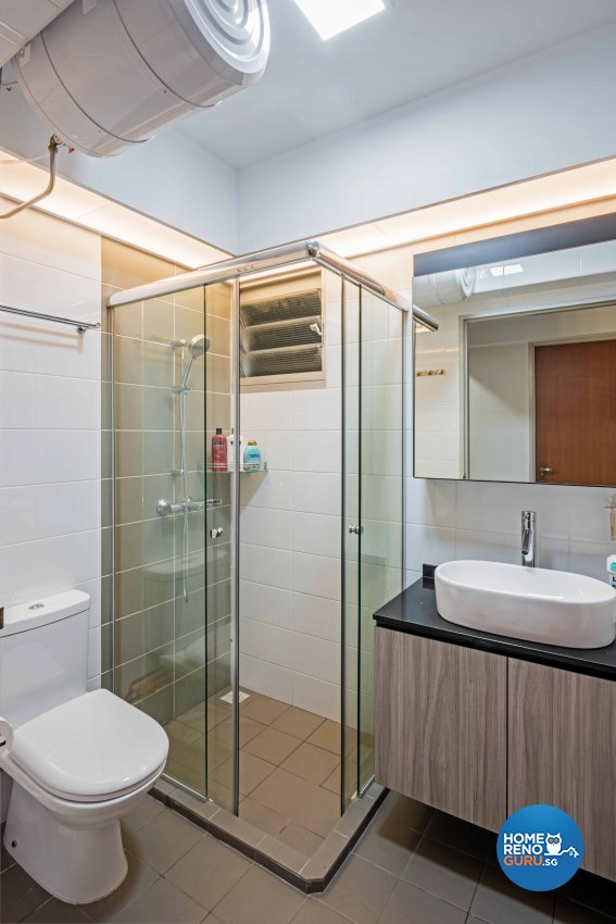 Contemporary, Modern Design - Bathroom - HDB 4 Room - Design by Luxurious Design Pte Ltd