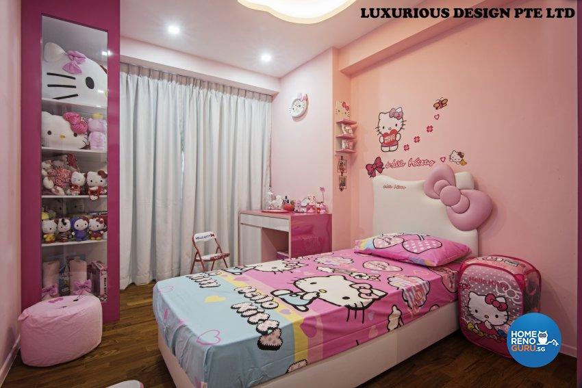Contemporary, Mediterranean, Tropical Design - Bedroom - HDB 3 Room - Design by Luxurious Design Pte Ltd