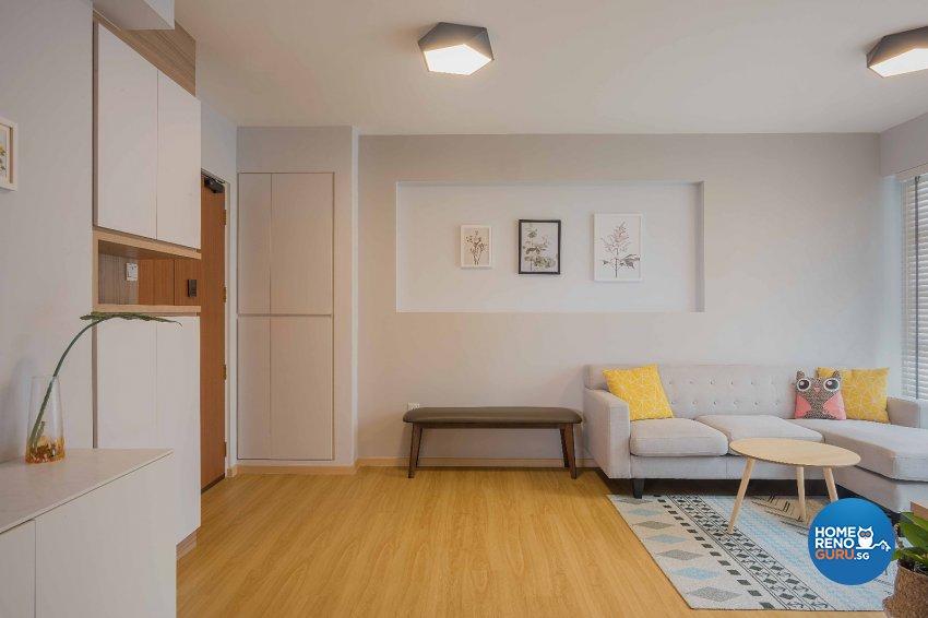 Contemporary, Minimalist, Modern Design - Living Room - HDB 4 Room - Design by Luxurious Design Pte Ltd
