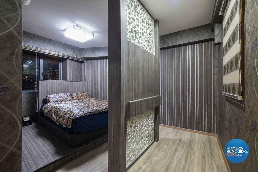 Contemporary, Tropical Design - Bedroom - HDB 4 Room - Design by Luxurious Design Pte Ltd