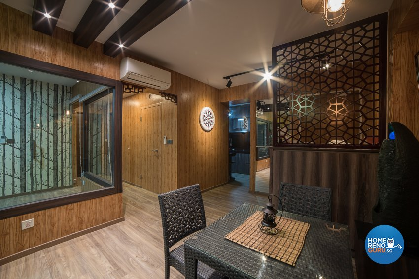 Contemporary, Tropical Design - Dining Room - HDB 4 Room - Design by Luxurious Design Pte Ltd