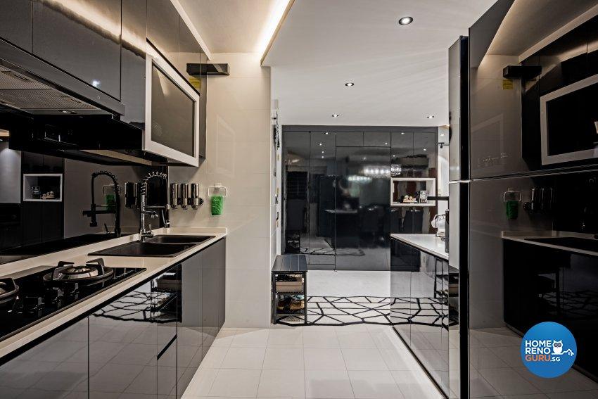 Contemporary, Modern Design - Kitchen - HDB 4 Room - Design by Luxurious Design Pte Ltd