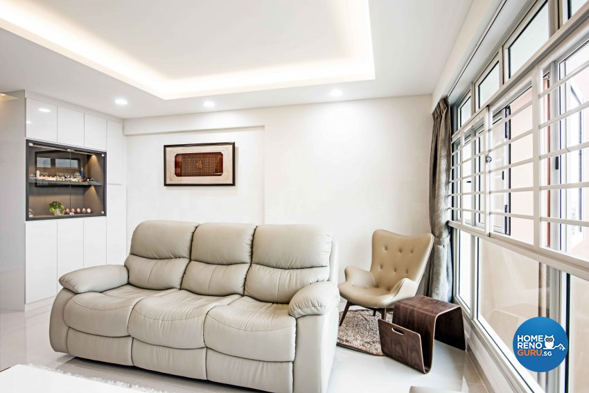 Contemporary, Modern Design - Living Room - HDB 4 Room - Design by Luxurious Design Pte Ltd