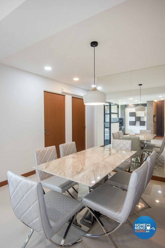 Contemporary, Modern Design - Dining Room - HDB 4 Room - Design by Luxurious Design Pte Ltd