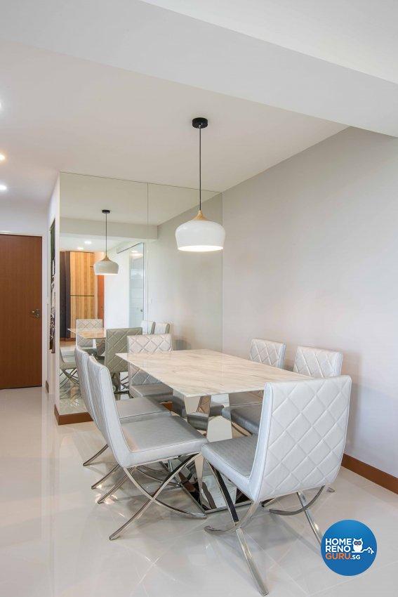 Contemporary, Modern Design - Dining Room - HDB 4 Room - Design by Luxurious Design Pte Ltd