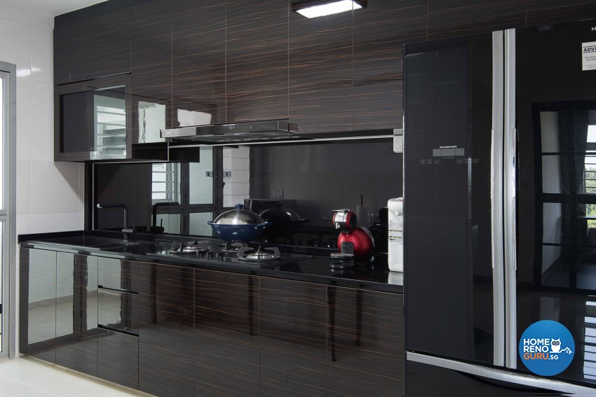 Contemporary, Modern Design - Kitchen - HDB 4 Room - Design by Luxurious Design Pte Ltd