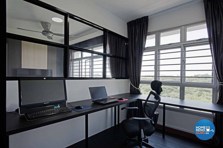 Contemporary, Modern Design - Study Room - HDB 4 Room - Design by Luxurious Design Pte Ltd