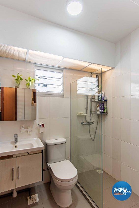 Contemporary, Modern Design - Bathroom - HDB 4 Room - Design by Luxurious Design Pte Ltd