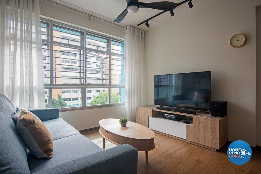 Minimalist, Scandinavian, Vintage Design - Living Room - HDB 4 Room - Design by Luxurious Design Pte Ltd