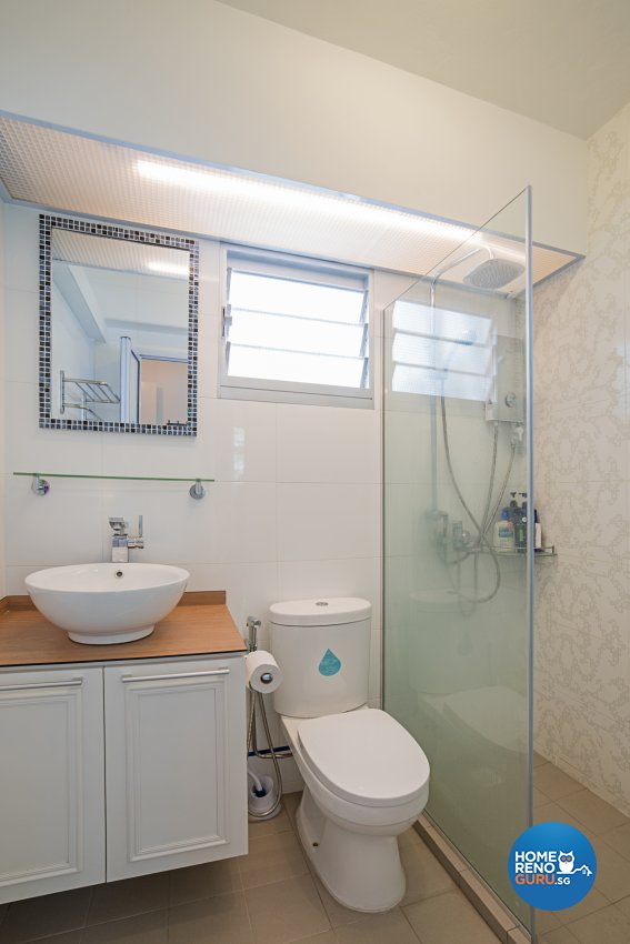 Minimalist, Scandinavian, Vintage Design - Bathroom - HDB 4 Room - Design by Luxurious Design Pte Ltd