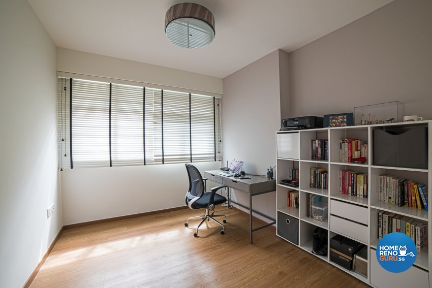 Minimalist, Scandinavian, Vintage Design - Study Room - HDB 4 Room - Design by Luxurious Design Pte Ltd