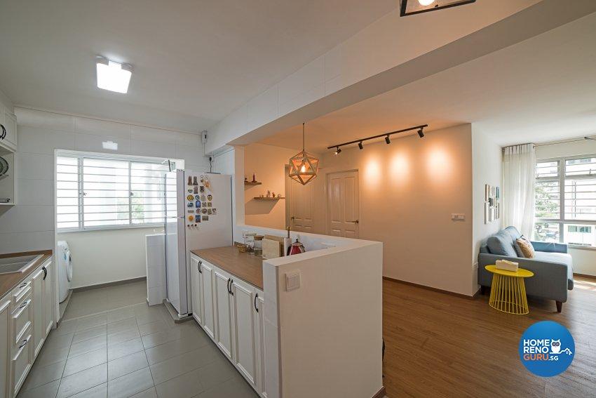 Minimalist, Scandinavian, Vintage Design - Kitchen - HDB 4 Room - Design by Luxurious Design Pte Ltd