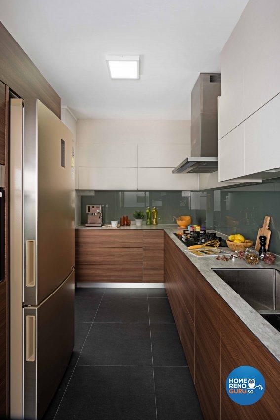 Contemporary Design - Kitchen - HDB 4 Room - Design by Luxurious Design Pte Ltd