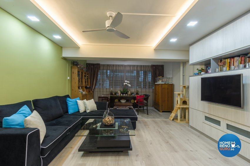 Classical, Contemporary Design - Living Room - HDB Executive Apartment - Design by Luxurious Design Pte Ltd