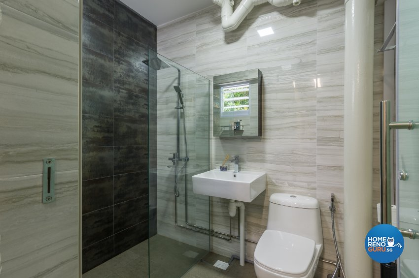 Classical, Contemporary Design - Bathroom - HDB Executive Apartment - Design by Luxurious Design Pte Ltd