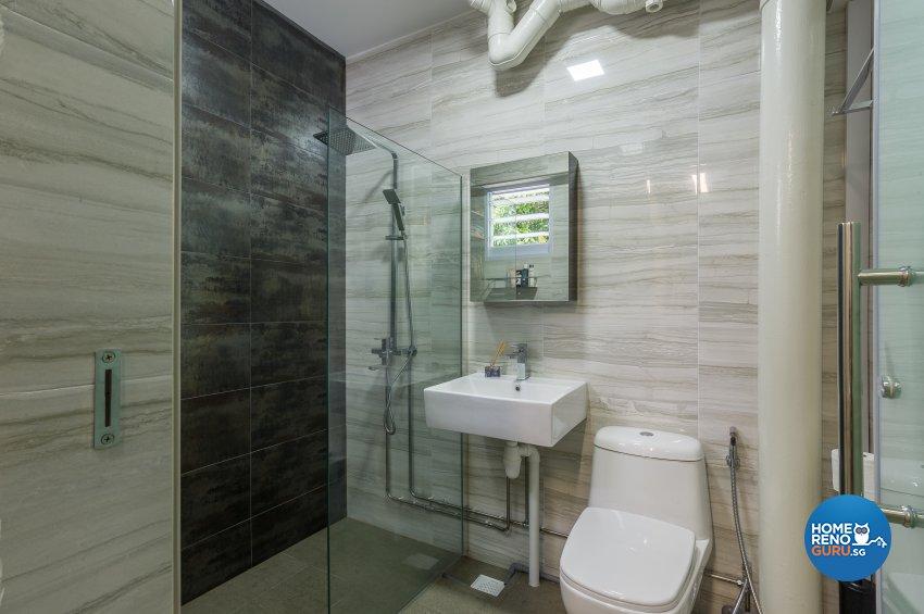 Classical, Contemporary Design - Bathroom - HDB Executive Apartment - Design by Luxurious Design Pte Ltd