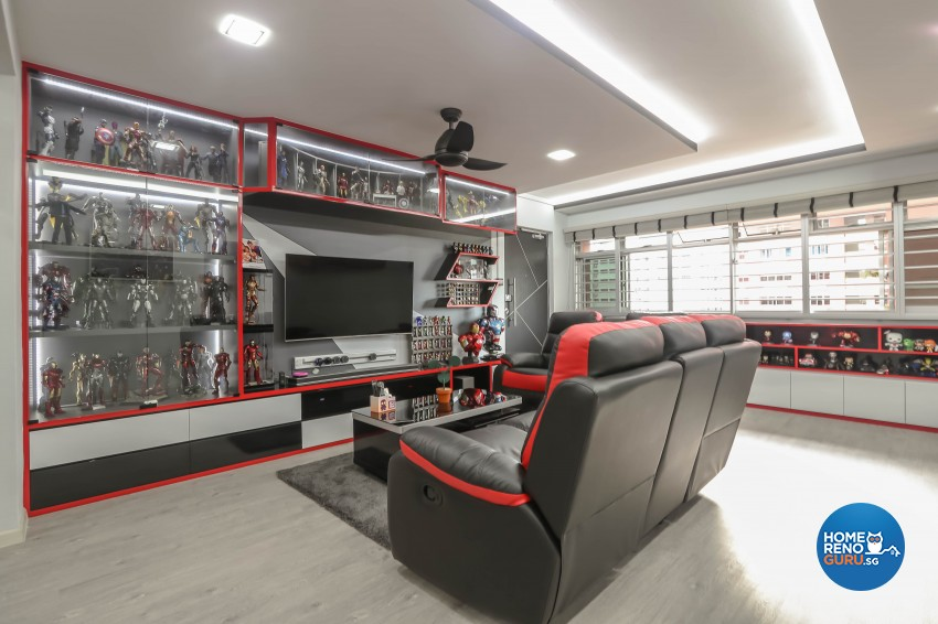 Others Design - Living Room - HDB 5 Room - Design by Luxurious Design Pte Ltd