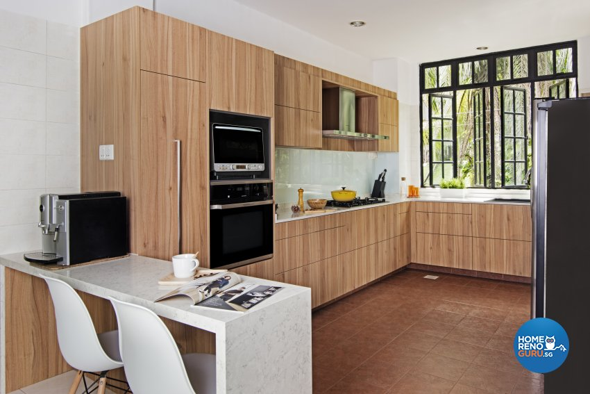Modern, Resort Design - Kitchen - Landed House - Design by Luxurious Design Pte Ltd