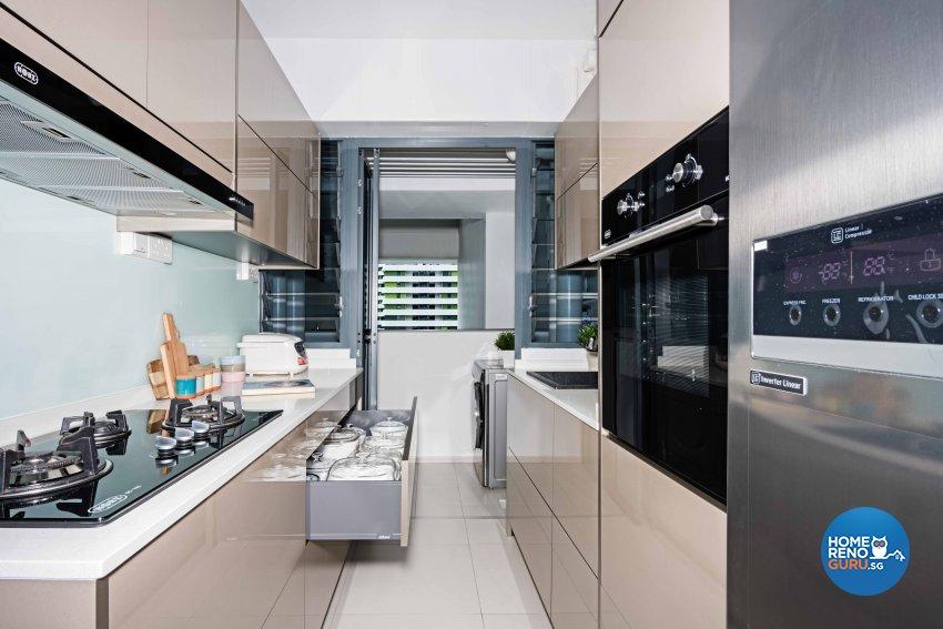 Contemporary, Minimalist, Modern Design - Kitchen - HDB 4 Room - Design by Luxurious Design Pte Ltd
