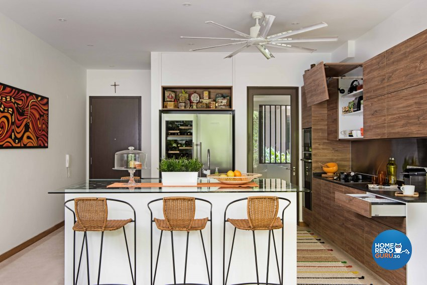 Contemporary, Tropical Design - Kitchen - HDB 4 Room - Design by Luxurious Design Pte Ltd