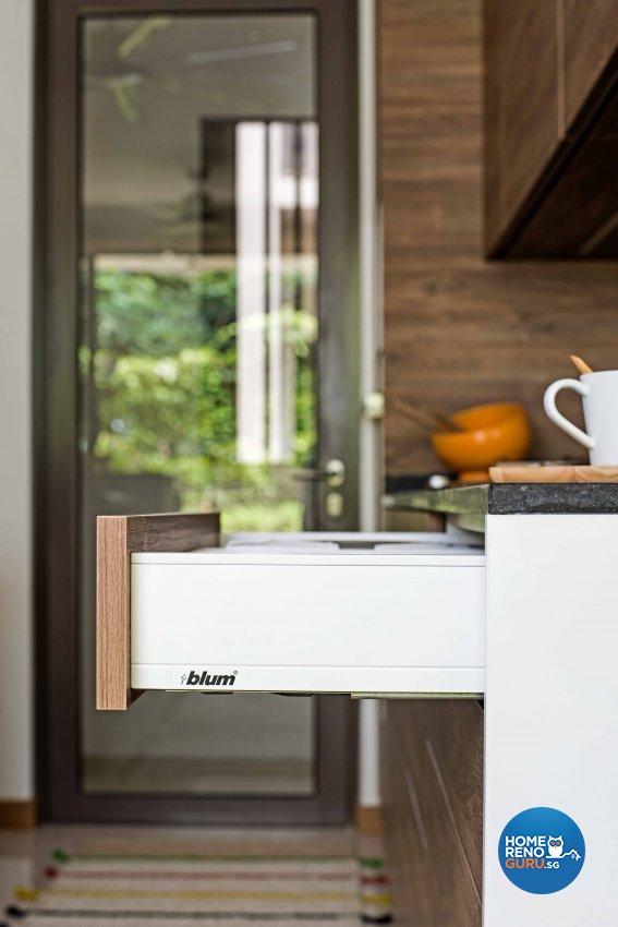 Contemporary, Tropical Design - Kitchen - HDB 4 Room - Design by Luxurious Design Pte Ltd