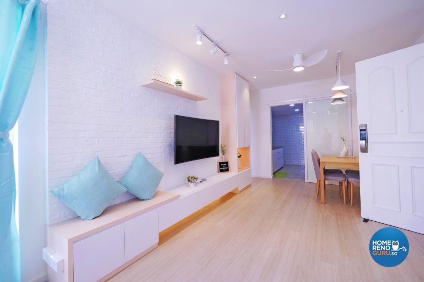 Minimalist, Modern, Scandinavian Design - Living Room - Condominium - Design by M Square Decor Pte Ltd