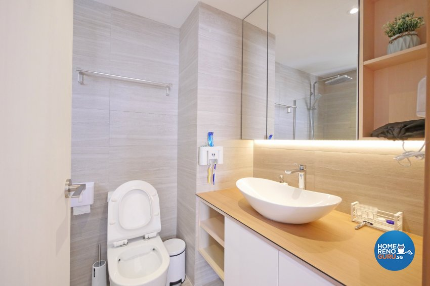 Minimalist, Modern, Scandinavian Design - Bathroom - Condominium - Design by M Square Decor Pte Ltd