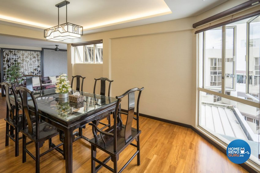 Oriental Design - Dining Room - Condominium - Design by MADE Artisan ID Pte Ltd