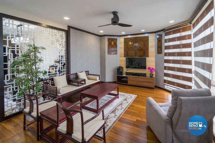 Oriental Design - Living Room - Condominium - Design by MADE Artisan ID Pte Ltd