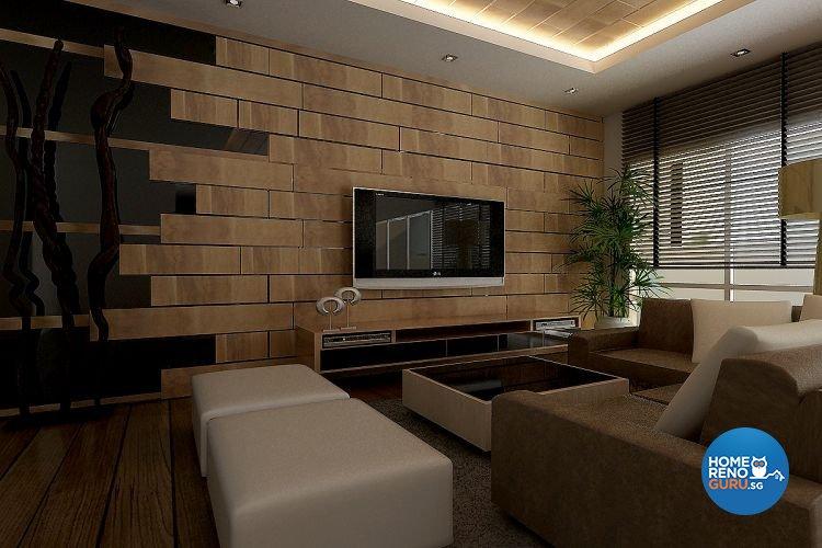Modern, Resort Design - Living Room - Condominium - Design by Matrix Interior Pte Ltd