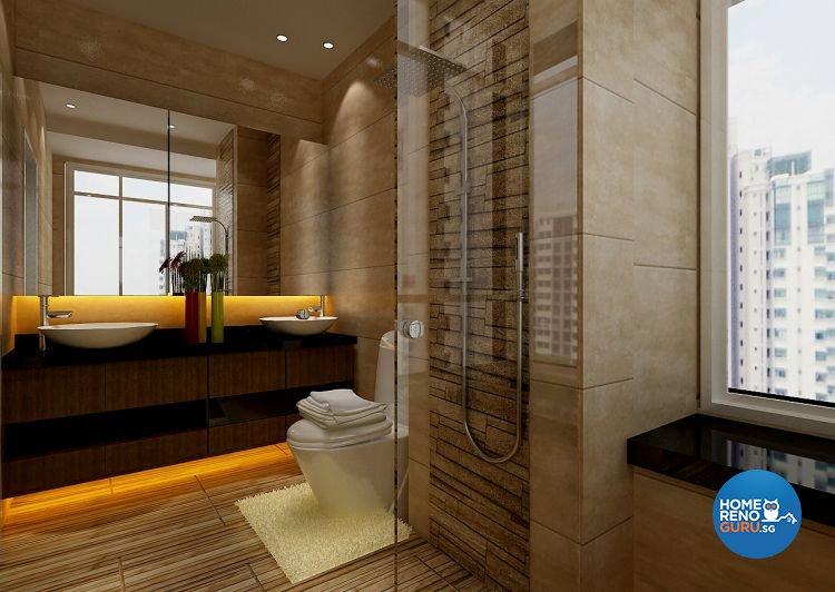 Modern, Resort Design - Bathroom - Condominium - Design by Matrix Interior Pte Ltd