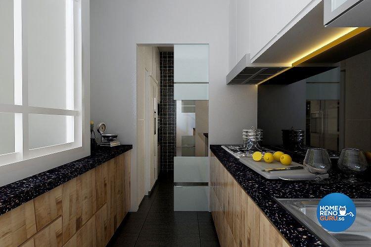 Modern, Resort Design - Kitchen - Condominium - Design by Matrix Interior Pte Ltd