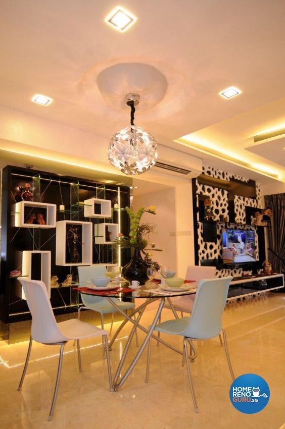Retro, Tropical Design - Dining Room - Condominium - Design by Matrix Interior Pte Ltd