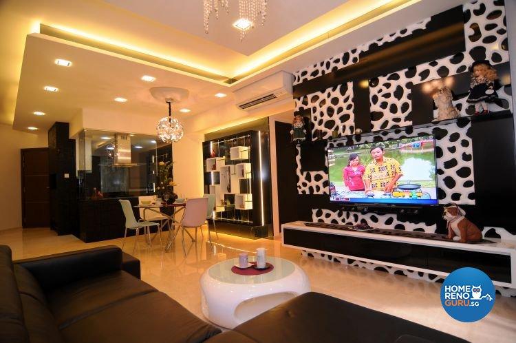 Retro, Tropical Design - Living Room - Condominium - Design by Matrix Interior Pte Ltd