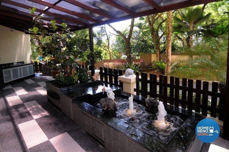 Retro, Tropical Design - Balcony - Condominium - Design by Matrix Interior Pte Ltd