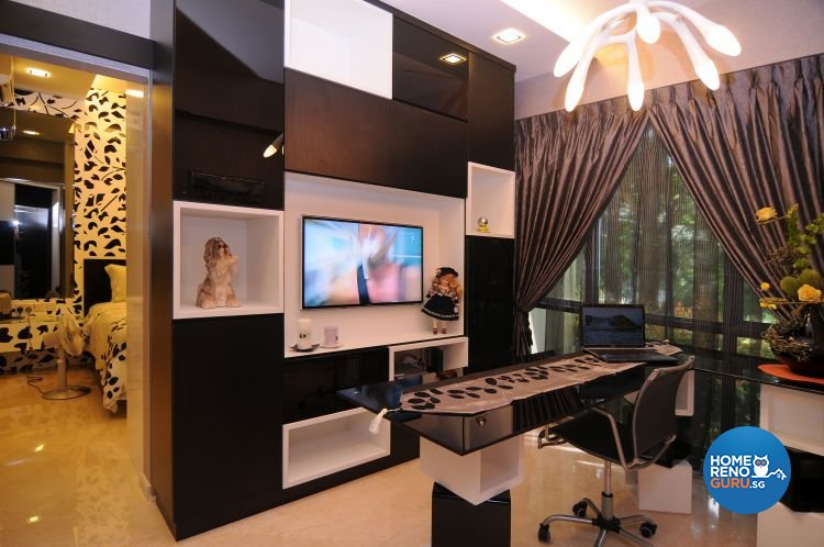 Retro, Tropical Design - Study Room - Condominium - Design by Matrix Interior Pte Ltd