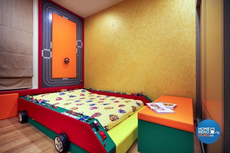 Contemporary Design - Bedroom - HDB 5 Room - Design by Matrix Interior Pte Ltd