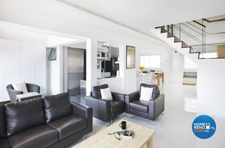 Minimalist, Modern Design - Living Room - HDB Executive Apartment - Design by Matrix Interior Pte Ltd