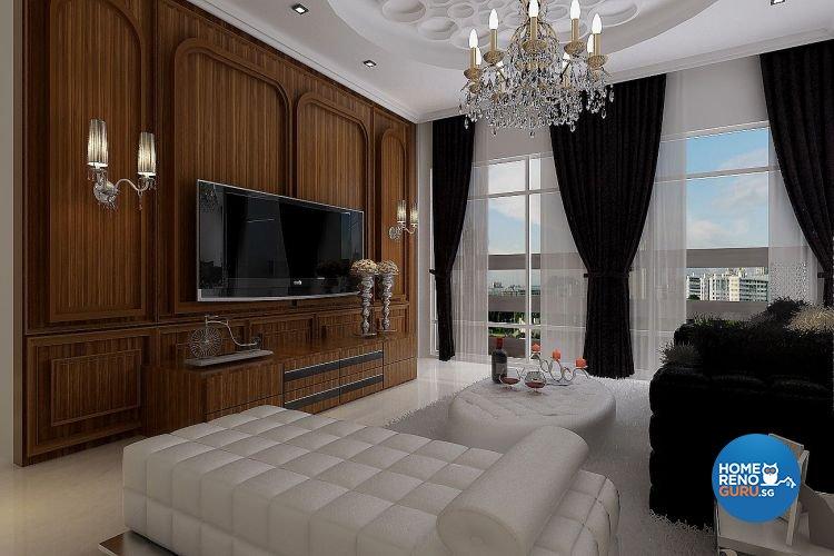 Classical, Modern Design - Living Room - Condominium - Design by Matrix Interior Pte Ltd