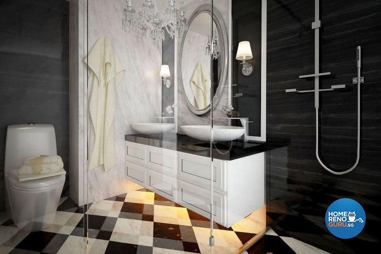 Classical, Modern Design - Bathroom - Condominium - Design by Matrix Interior Pte Ltd