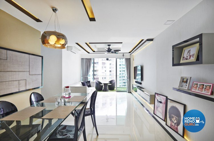 Classical, Modern Design - Dining Room - HDB 5 Room - Design by Matrix Interior Pte Ltd