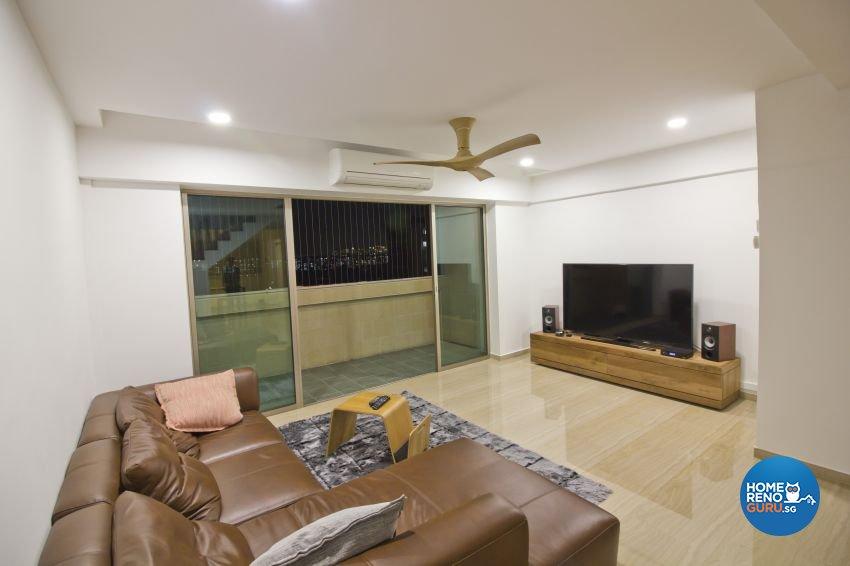 Industrial, Modern Design - Living Room - HDB Executive Apartment - Design by Met Interior