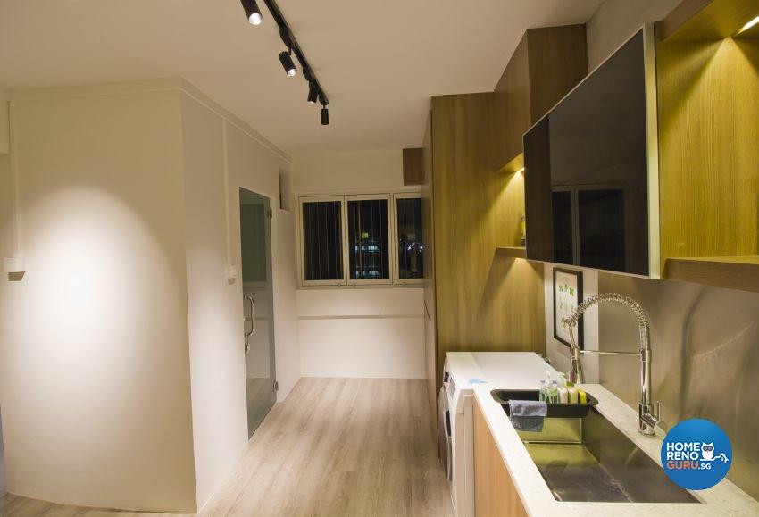 Industrial, Modern Design - Kitchen - HDB Executive Apartment - Design by Met Interior