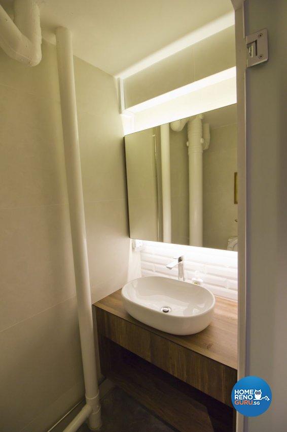 Industrial, Modern Design - Bathroom - HDB Executive Apartment - Design by Met Interior