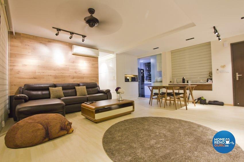 Scandinavian Design - Living Room - HDB 5 Room - Design by Met Interior