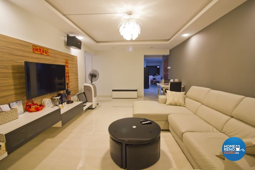 Modern Design - Living Room - HDB 5 Room - Design by Met Interior